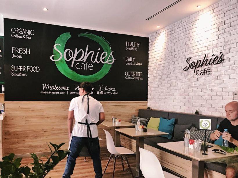 Breakfast at Sophie's Cafe, Dubai